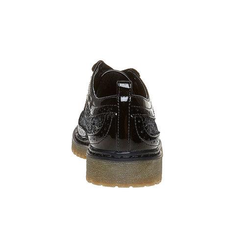 Scarpe basse da bambina con glitter mini-b, nero, 329-6221 - 17