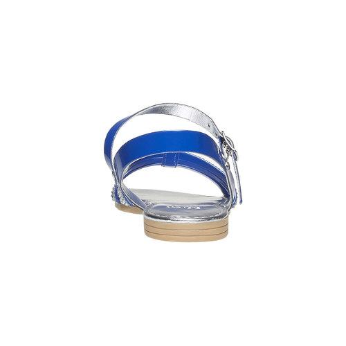 Sandali da bambina con strisce mini-b, blu, 361-9175 - 17