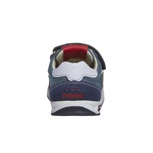 Sneakers in pelle con chiusure a velcro primigi, viola, 113-9136 - 17