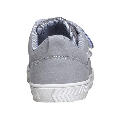 Sneakers da bambino con velcro mini-b, grigio, 211-2157 - 17