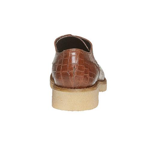 Scarpe basse da donna con effetto pelle di coccodrillo bata, marrone, 521-3317 - 17