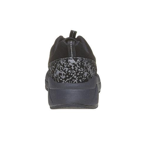 Sneakers nere con suola ampia lotto, nero, 509-6157 - 17