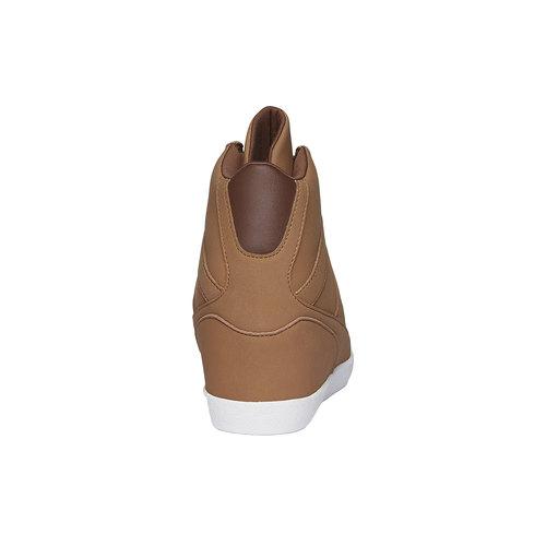 Sneakers alla caviglia con zeppa le-coq-sportif, marrone, 501-4231 - 17