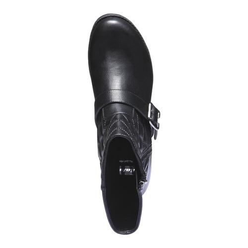 Scarpe da donna con cuciture bata, nero, 691-6149 - 19