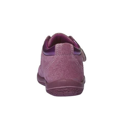 Scarpe in pelle alla caviglia con cuoricini primigi, rosso, 123-5112 - 17