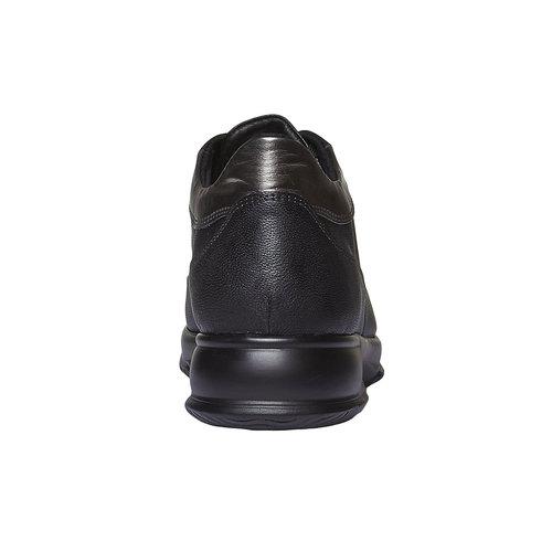 Sneakers informali in pelle bata, nero, 524-6248 - 17