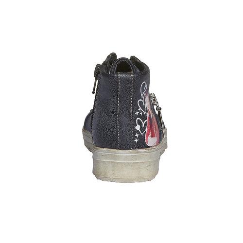 Sneakers da ragazza alla caviglia violetta, nero, 321-6141 - 17