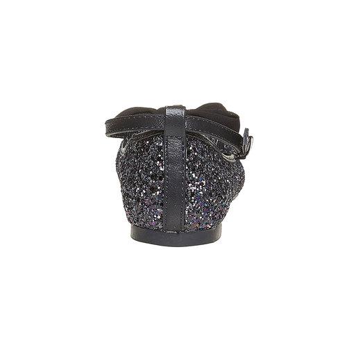 Ballerine da ragazza con glitter mini-b, nero, 329-6176 - 17