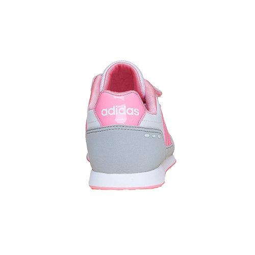 Sneakers rosa da ragazza adidas, bianco, 301-1113 - 17