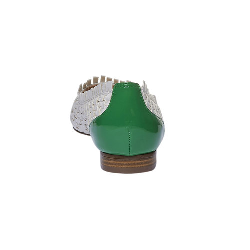 Ballerine a punta bata, verde, 521-7472 - 17