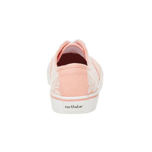 Sneakers con pizzo north-star, rosa, 549-5222 - 17