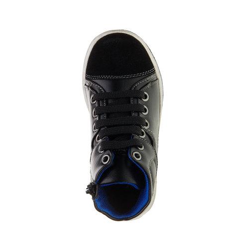Sneakers da bambino alla caviglia mini-b, nero, 211-6133 - 19