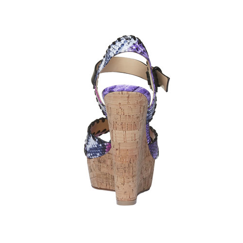 Sandali da donna con plateau e cinturino bata, viola, 761-9527 - 17