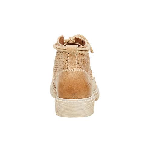 Scarpe di pelle alla caviglia weinbrenner, marrone, 594-4138 - 17