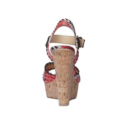 Sandali da donna con plateau bata, rosso, 761-5527 - 17