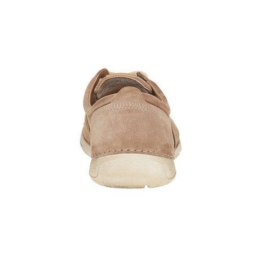 Scarpe basse informali di pelle weinbrenner, marrone, 846-4657 - 17