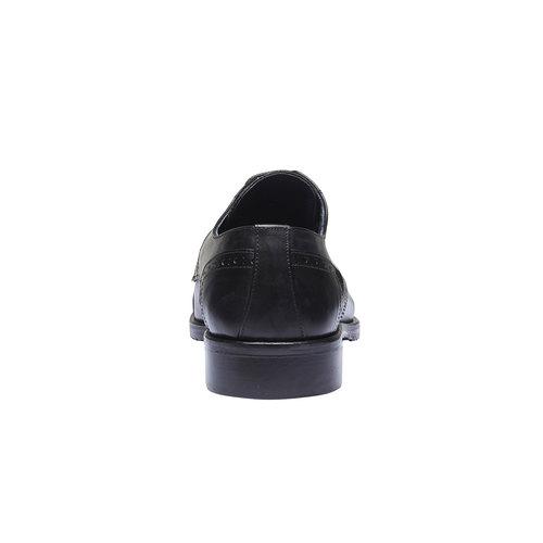 Scarpe basse di pelle in stile Derby bata, nero, 824-6809 - 17