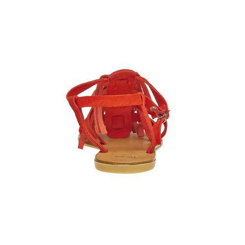 Sandali di pelle con nappe bata, rosso, 563-5130 - 17