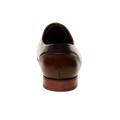 Scarpe basse di pelle in stile Derby bata, marrone, 824-4538 - 17
