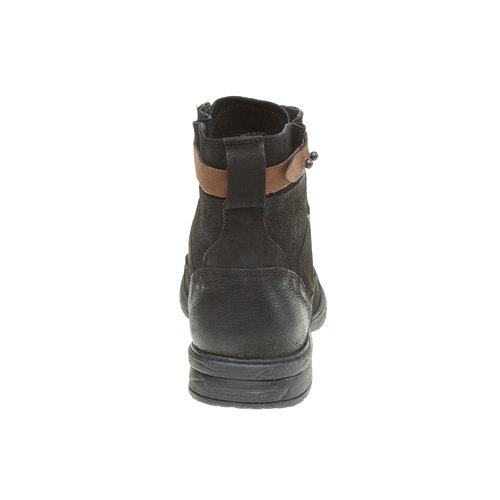 Scarpe di pelle alla caviglia bata, nero, 894-6165 - 17
