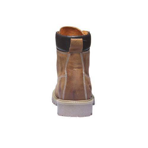 Scarpe in pelle con suola a carro armato weinbrenner, marrone, 594-3822 - 17