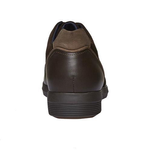 Sneakers scamosciate bata, marrone, 844-4519 - 17