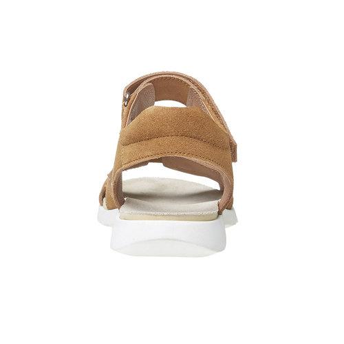 Sandali da donna in pelle flexible, marrone, 563-4397 - 17