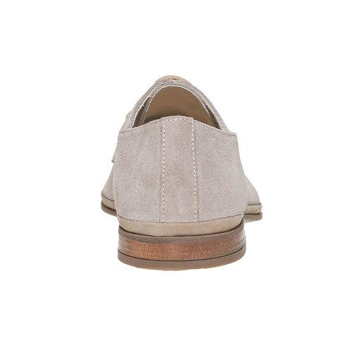 Scarpe basse in pelle scamosciata bata, grigio, 823-2752 - 17