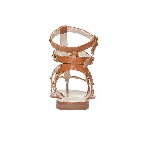 Scarpe da donna con borchie decorative bata, marrone, 561-3296 - 17