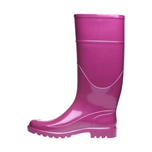 Stivale da pioggia bata, rosa, 592-5781 - 15