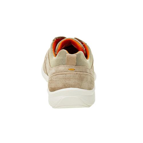 Sneakers informali di pelle bata-comfit, beige, 843-8643 - 17
