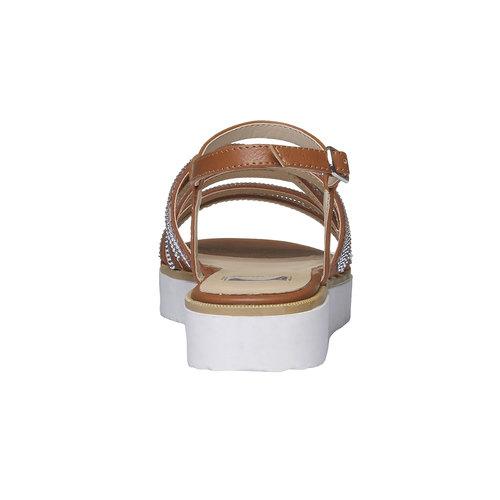 Sandali da donna con strisce e flatform bata, marrone, 561-3226 - 17