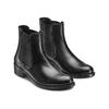 Scarpe di pelle in stile Chelsea bata, nero, 594-6448 - 16