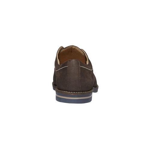 Scarpe basse di pelle con cuciture appariscenti bata, marrone, 826-4642 - 17