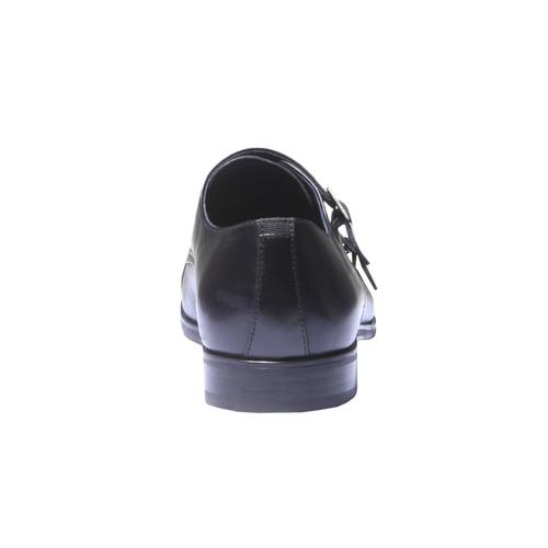 Scarpe basse di pelle in stile Monk bata, nero, 814-6107 - 17