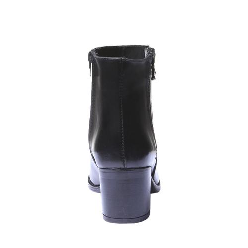 Scarpe di pelle alla caviglia bata, nero, 794-6566 - 17