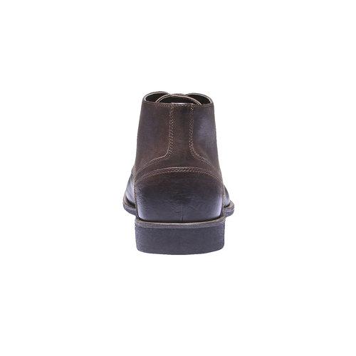 Scarpe di pelle alla caviglia bata, marrone, 894-4178 - 17