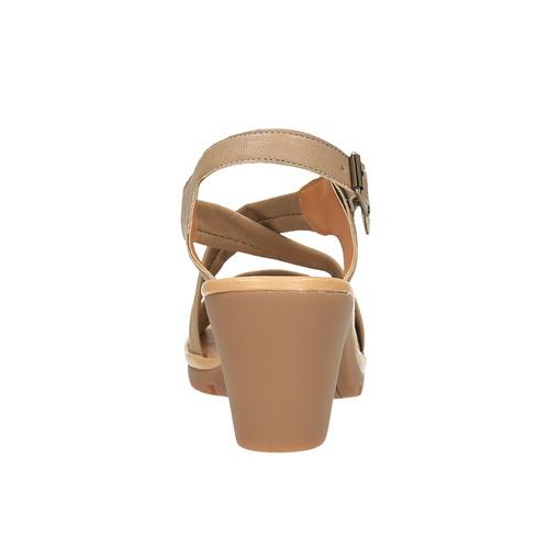 Sandali da donna in pelle flexible, marrone, 764-8538 - 17