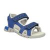 Sandali da bambino con strisce di pelle mini-b, blu, 264-9166 - 13