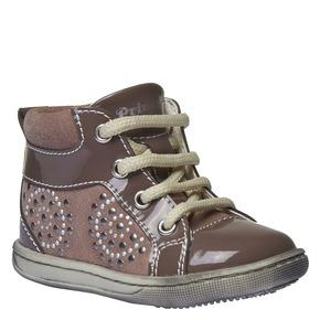 Scarpe da bambino in pelle alla caviglia primigi, rosso, 123-5131 - 13