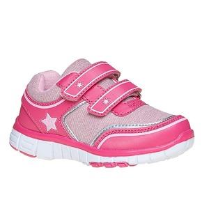 Sneakers rosa da ragazza con chiusure a velcro mini-b, rosa, 229-5175 - 13