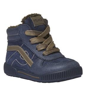 Sneakers in pelle alla caviglia con fodera calda primigi, viola, 193-9106 - 13