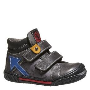 Scarpe di pelle alla caviglia mini-b, grigio, 114-2134 - 13