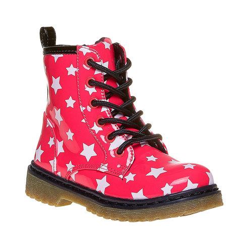 Scarpe da bambina sopra la caviglia con stelline mini-b, rosa, 291-5159 - 13