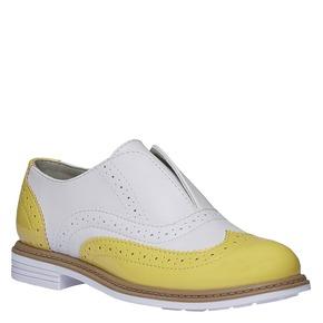 Scarpe basse da bambino in stile Spectator shoes mini-b, giallo, 321-8178 - 13