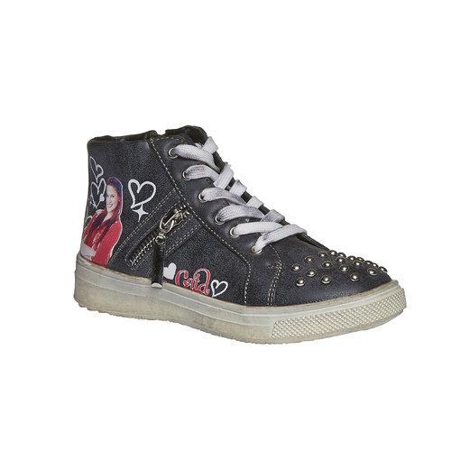 Sneakers da ragazza alla caviglia violetta, nero, 321-6141 - 13