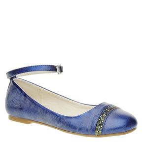Ballerine blu con cinturino mini-b, blu, 321-9181 - 13