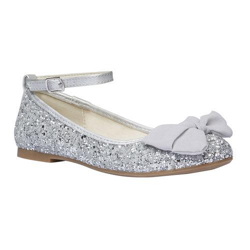 Ballerine da ragazza con glitter mini-b, grigio, 329-2177 - 13