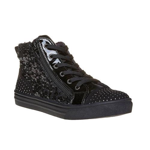 Sneakers nere da bambina con glitter mini-b, nero, 329-6216 - 13