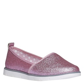Slip-on da bambina con glitter mini-b, rosso, 329-5163 - 13